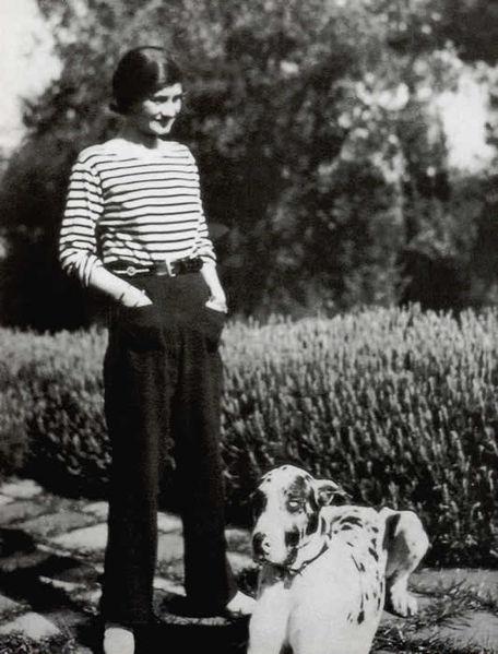 Gabrielle Chanel en marinière - Inspiration Marinière : du matelot à nos tricots