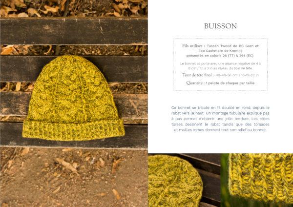livre nature bonnet buisson1 600x424 - Nature garde-robe tricotée (livre)