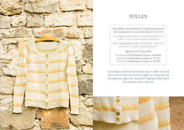 livre nature cardigan pollen1 600x424 - Nature garde-robe tricotée (livre)
