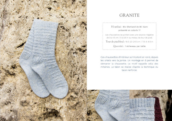 livre nature chaussettes granite1 600x424 - Nature garde-robe tricotée (livre)
