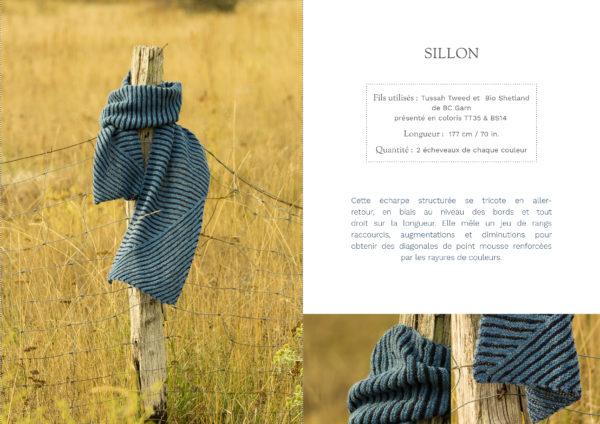 livre nature echarpe sillon1 600x424 - Nature garde-robe tricotée (livre)