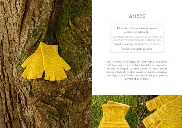 livre nature mitaines ambre1 600x424 - Nature garde-robe tricotée (livre)