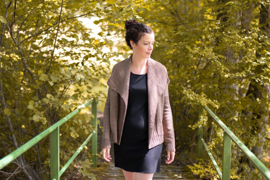 gilet marron precieux MA 27 1024x683 - Ariane et la collection Précieux Cardigan de Marie Amelie Designs