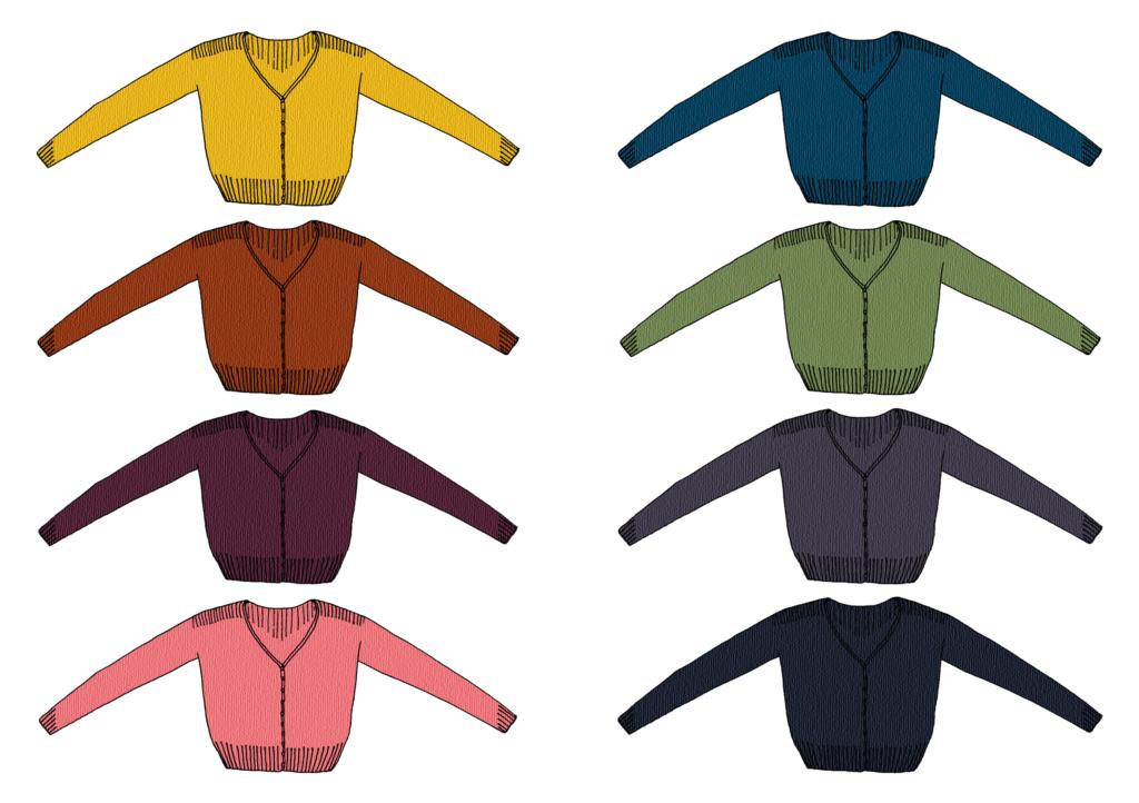 palette couleur soyeuse ariane 1024x722 - Ariane et la collection Précieux Cardigan de Marie Amelie Designs