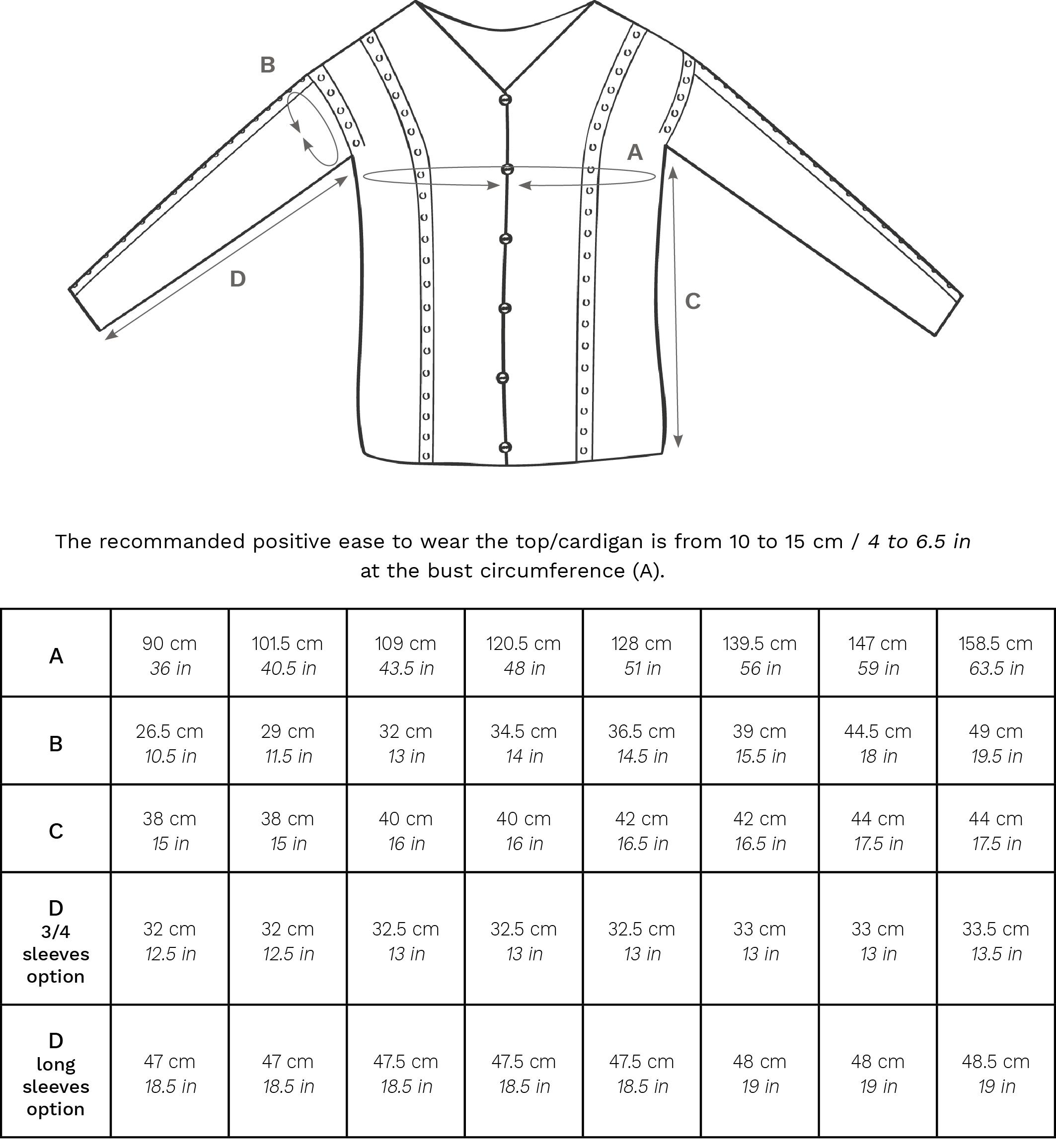 Dolce Seta dimensions EN 1 - Dolce Seta